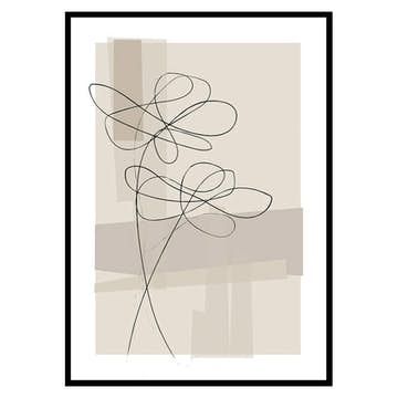Poster Gallerix Abstract Flower No1