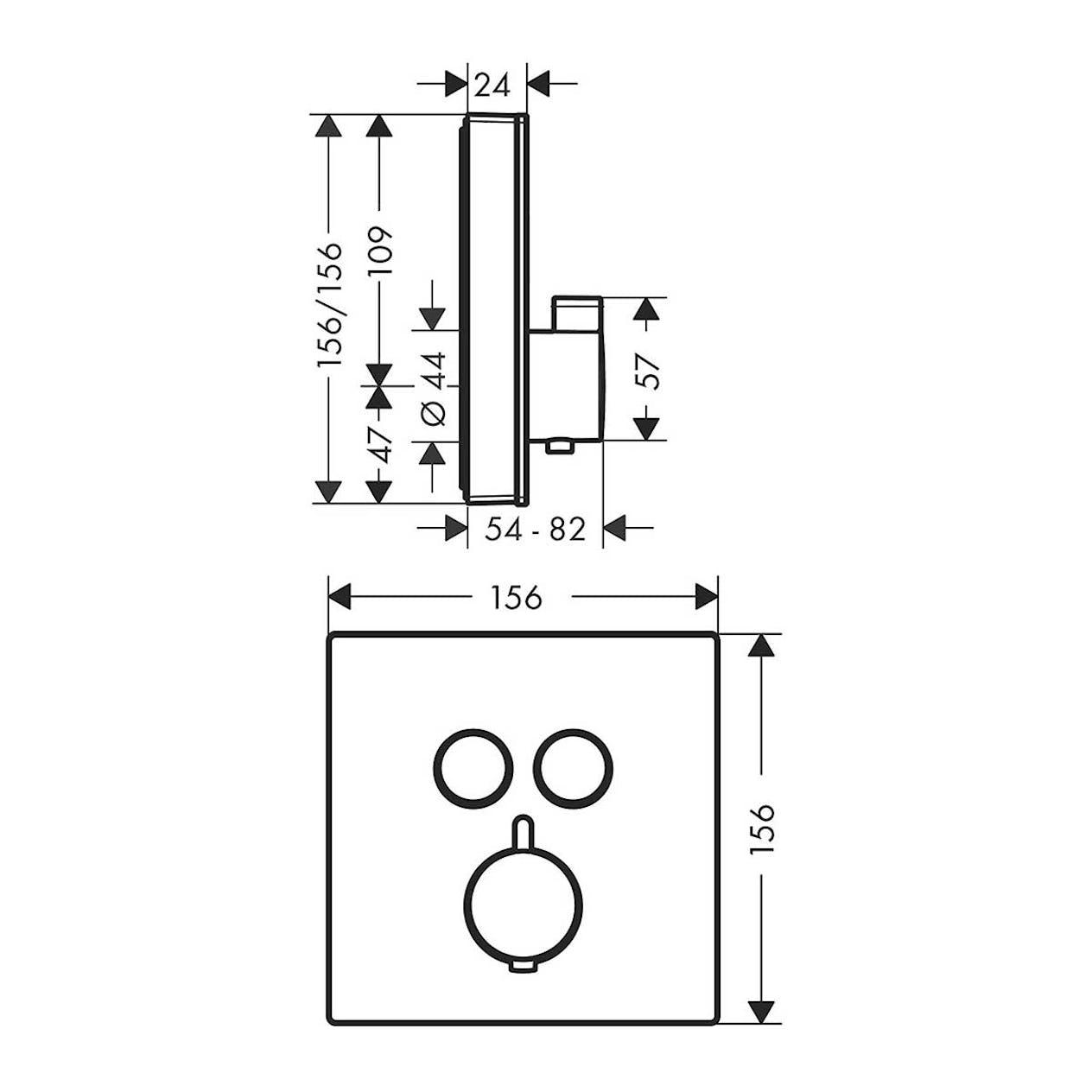 Duschblandare Hansgrohe ShowerSelect Glass Termostat 2 Funktioner Vit Krom.  34% Rabatt 4346588692513