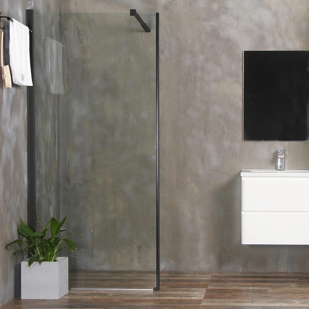 duschlösning på rak vägg