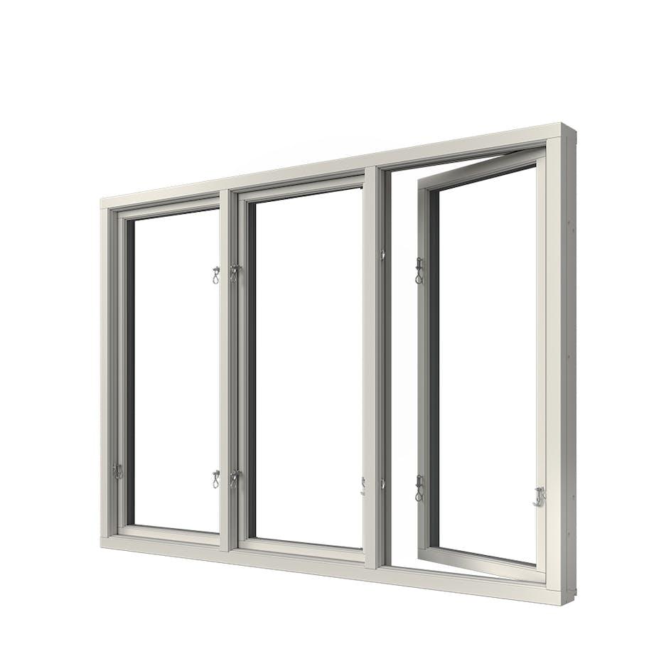 Sidohängt Fönster Elitfönster Elit Retro 3-Glas Aluminium 3-Luft 4b582146c8981