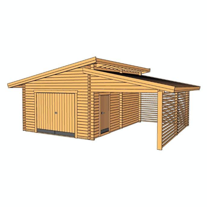 Berömda Garage Baseco Bergnäs med carport 45 m2 22262 TD-98