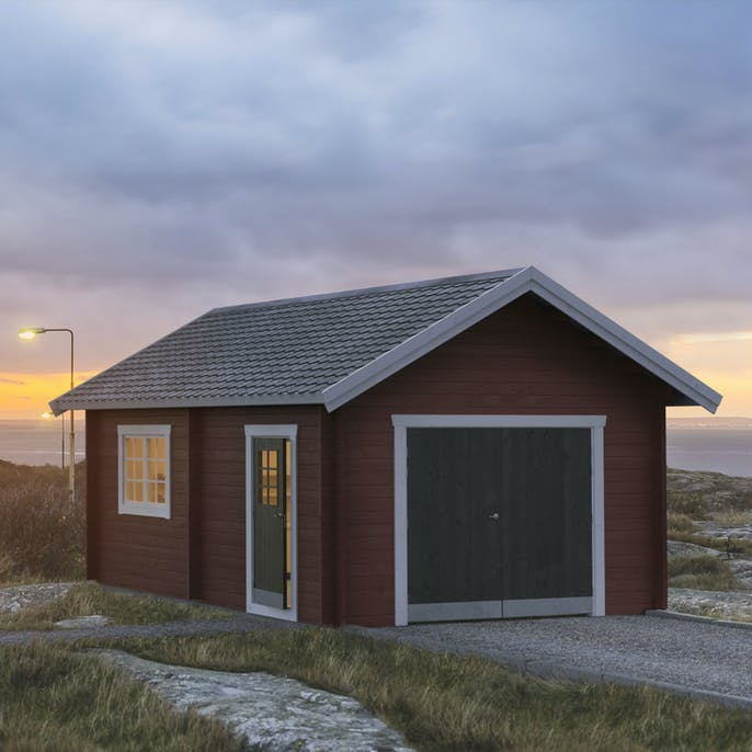 Helt nya Garage Baseco Högliden 25 m2 22117 Bygghemma.se KF-39