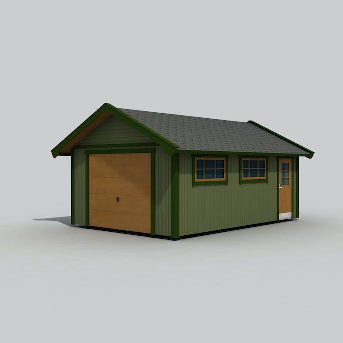 Icke gamla Garage Trähuset 25 m2 1390 Bygghemma.se BU-23
