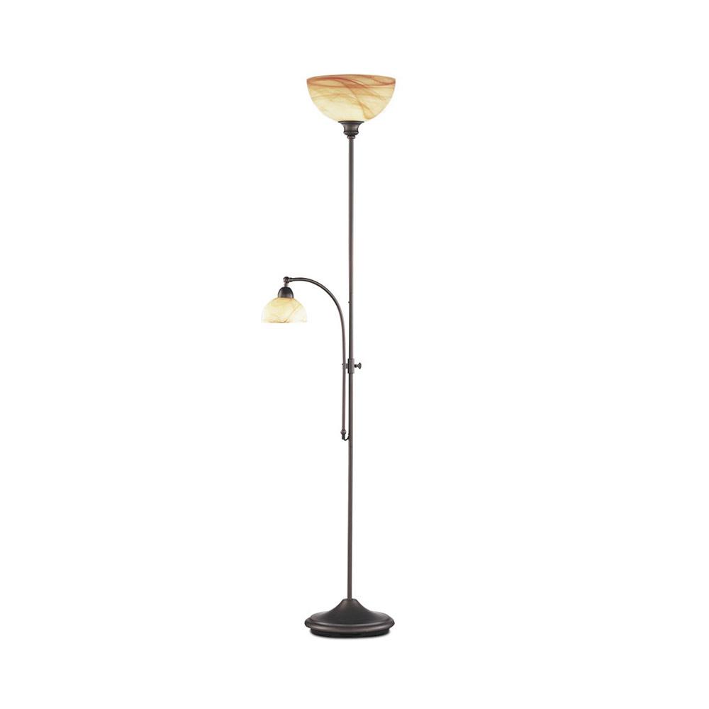 Båglampa ↥1950mm Modern Retro Krom Vit Glas Lampa Stå