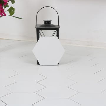 Klinker Bathlife Hexagon Borno White 20x23 cm