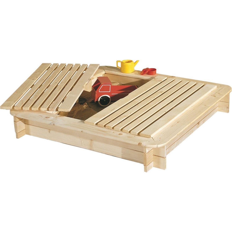sandlåda trä med lock