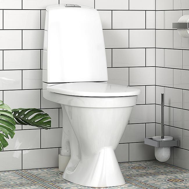 toalett avlopp krok upp